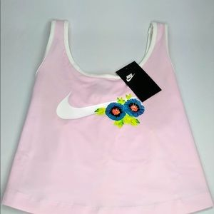 Nike crop top woman's tropical style new